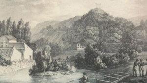 Botanikos sodo vaizdas Sereikiškėse XIX a. (K. Raczynski, 1835)